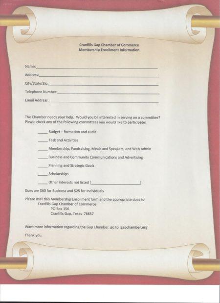 Membership Enroll form scroll
